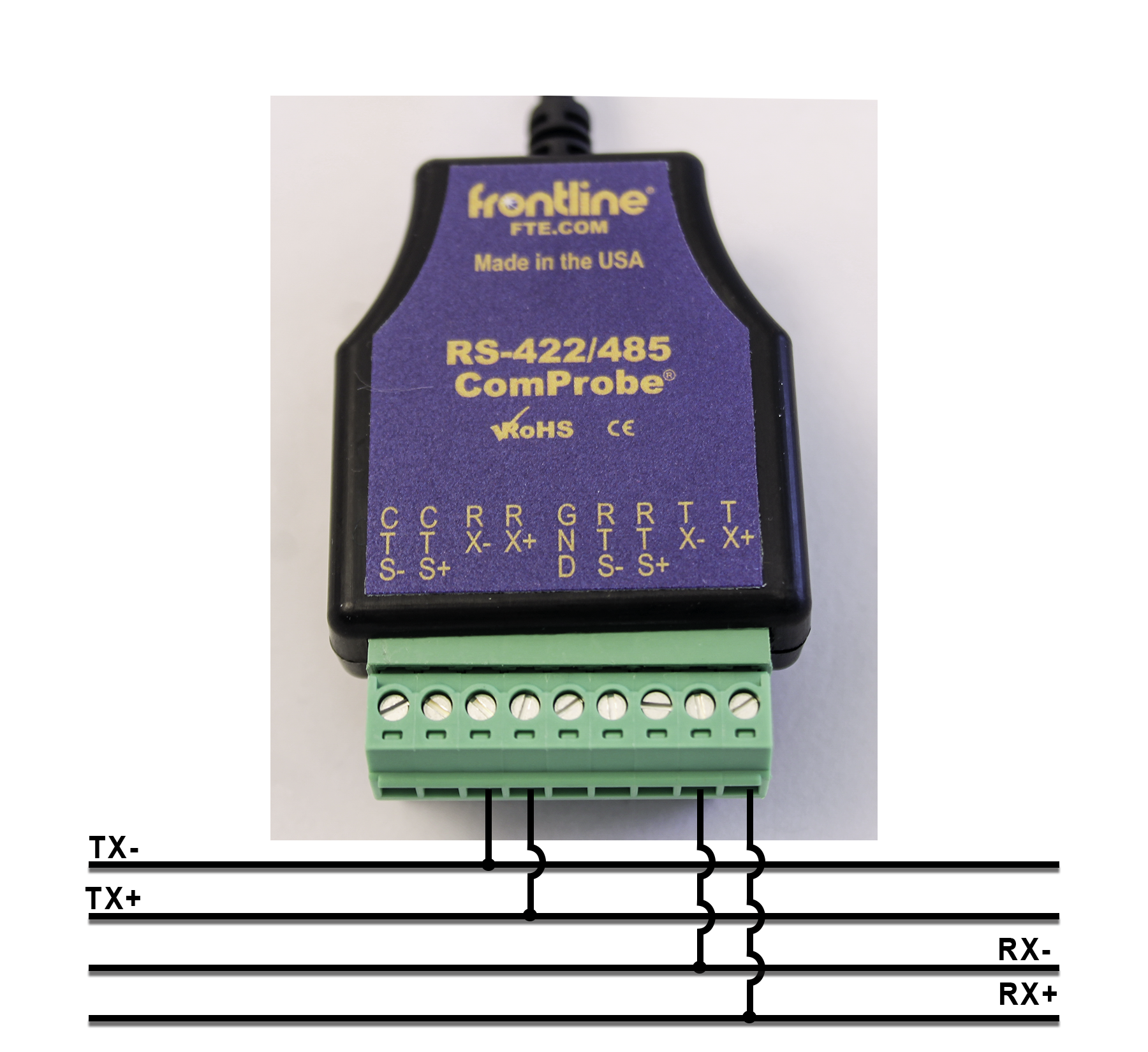 Tap 4-Wire RS-422/485 Circuits