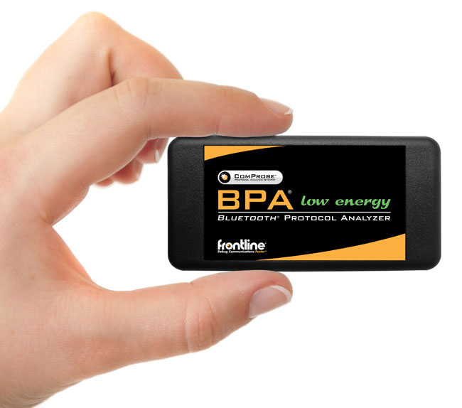 Frontline's ComProbe BPA low energy <i>Bluetooth</i> Protocol Analyzer