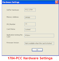 1784-PCC Hardware Settings