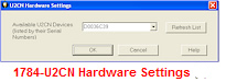 1784-U2CN Hardware Settings