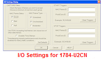 I/O Settings for 1784-U2CN