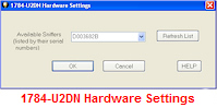 1784-U2DN Hardware Settings